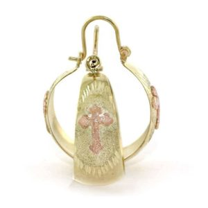 Elegant Medium Dome Hoop Earrings in 14k Yellow Gold